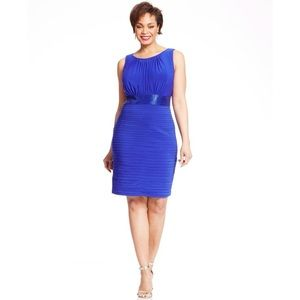 Betsy & Adam Royal Blue Bead Cocktail Dress 8 NWT